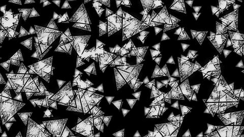 Abstract Monochrome Falling Triangles Animation - Loop Animation