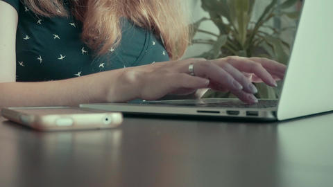 Hands Typing on Computer Keyboard Footage