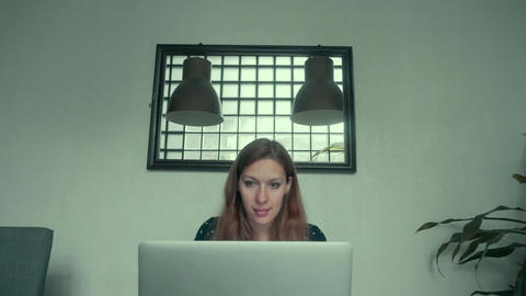 Woman Doing Online Shopping at Home Footage