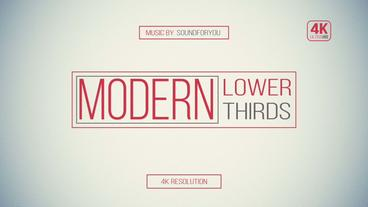 Minimal Modern Lower Third After Effects Template