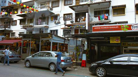 Food Chinatown street near popular tourist street Jalan Bukit Bintang Footage