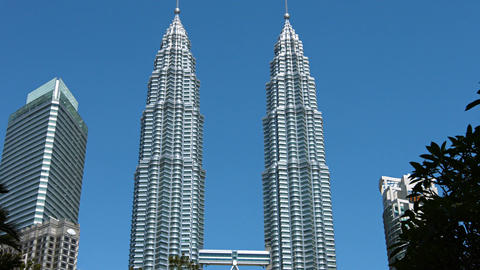 Petronas Towers or Petronas Twin Towers Footage