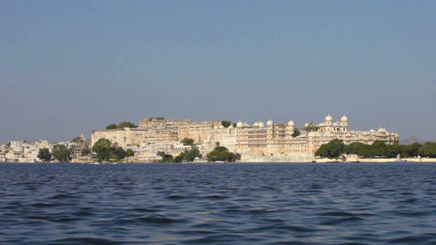 City palace in Udaipur. India. Rajasthan Footage