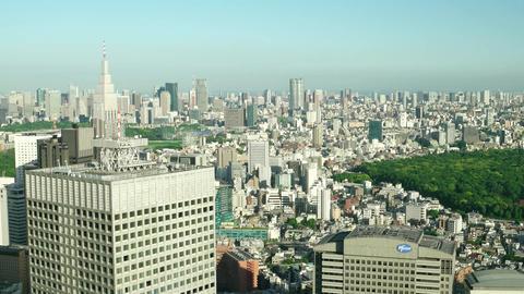 Tokyo aerial city view. Shinjuku 2016. 4K resolution speed up Footage