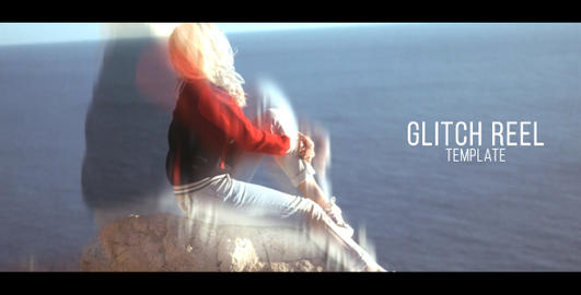 Elegant Glitch Slideshow After Effects Template