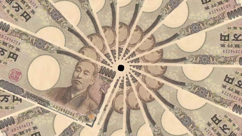 Japanese Yen Banknote Transition Aperture Style Animation