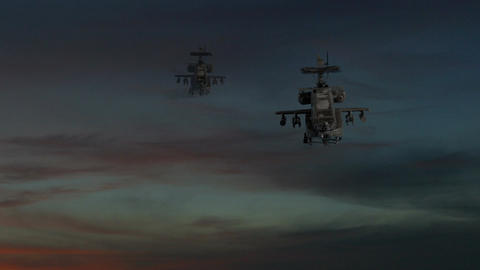 Two-gunship-sky-explosion 1 Footage