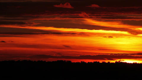 Timelapse video of beautiful sunset Footage