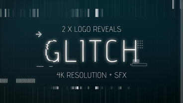 Digital and Retro Glitch Logo Reveals After Effects Template