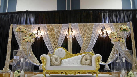 shot of elegant sofa for wedding reception Live Action
