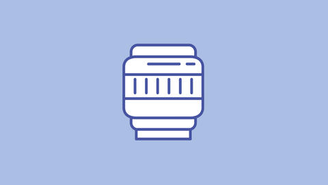 Lens focusing line icon on the Alpha Channel Animation
