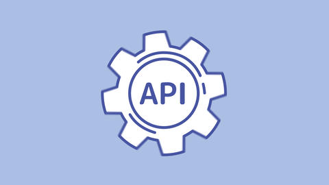 API line icon on the Alpha Channel Animation