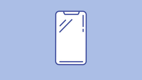 Phone line icon on the Alpha Channel Animation