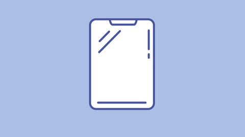 Tablet line icon on the Alpha Channel Animation
