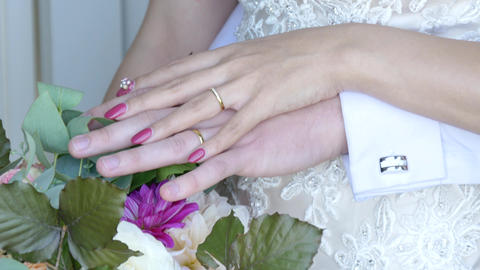 Closeup shot of wedding or engagement ring Live Action