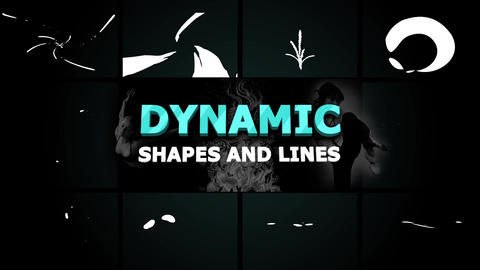 Dynamic Shapes and Lines Motion Graphics Template