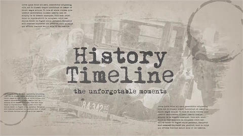 History Timeline Premiere Pro Template
