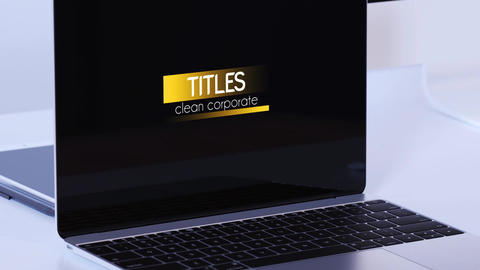 Clean Corporate Titles Motion Graphics Template