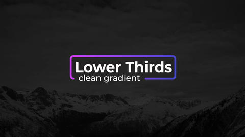Gradient Lower Thirds After Effects Template