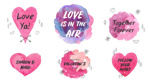 Love is in the Air Watercolor Titles After Effects Template