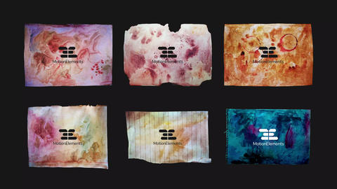 Stained Paper. Logo & Titles After Effects Template