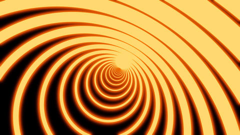 abstract neon circle tunnel motion background. Digital neon tunnel of circles Live Action