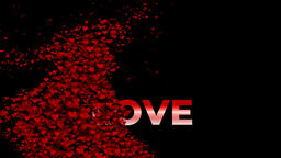 Love Hearts Background 4K Animation