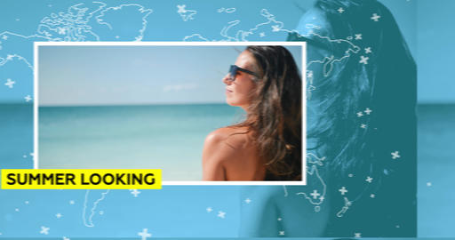 Summer Vacation Slideshow After Effects Template