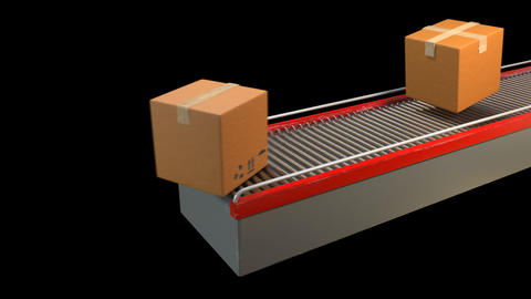 Conveyor Belt in Action Animation