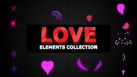 Romantic Elements After Effects Template