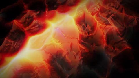 3D Render of Abstract Viscous Magma Animation