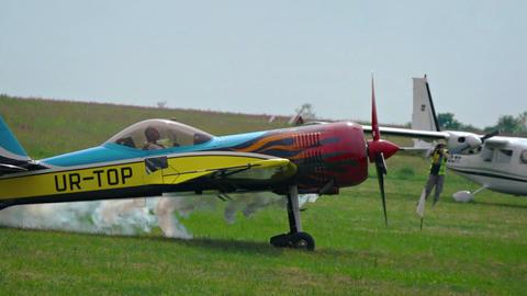 single-seater aerobatics plane. Footage Footage