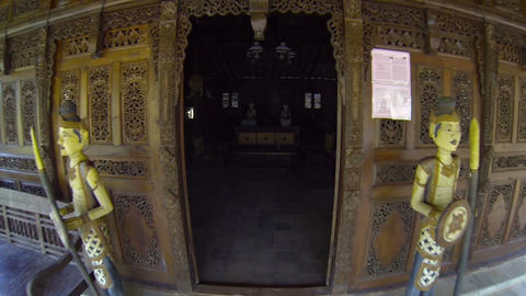 Interior of a model. Javanese house with traditional furnishings Footage