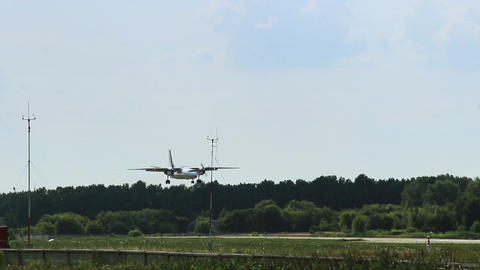 Russian aviation. Antonov AN-26 landing Live Action