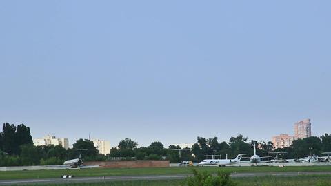 Plane steering through the old aerodrome zone Live Action