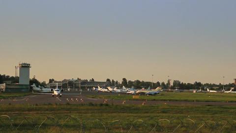 Speed up of Utair Airlines Canadair CL-600 steering Footage