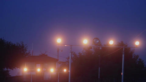 Airport signal lights for landing aircrafts Live Action