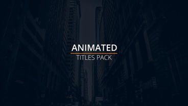 Simple Titles After Effects Project