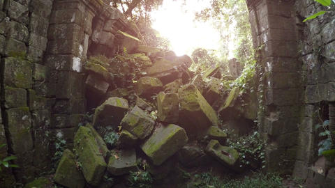 Ruins of an ancient civilization. Cambodia Footage