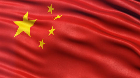 China flag seamless loop Animation