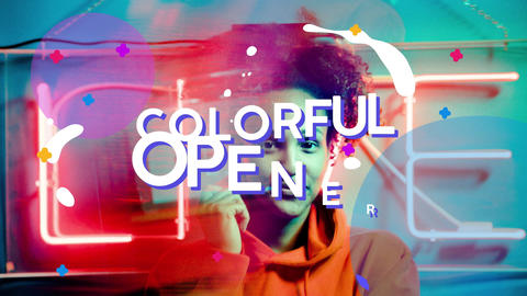 Colorful Opener Plantilla de Apple Motion