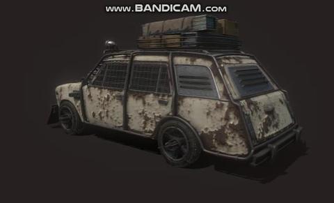 Cyber vaz 2102 USSR Lada deuce post apocalypse 3Dモデル