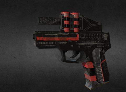 Cyber pistol gun Modelo 3D