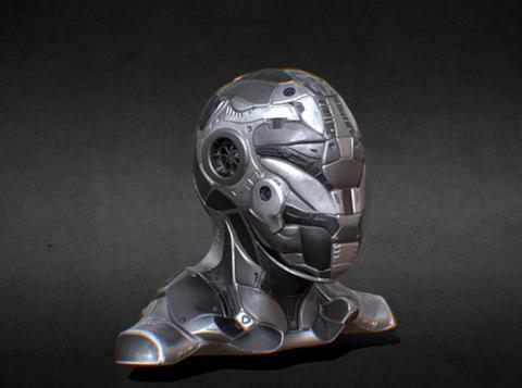 Cyber sci fi ninja Modelo 3D