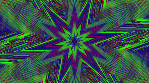 Abstract bad trip effect flare iridescent background. Looped animation Live Action