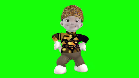 430 3d animated cartoon boy moving and jesturing Animation