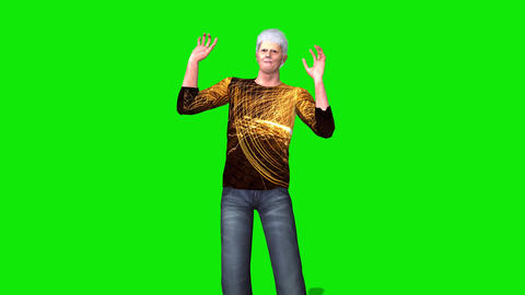 456 3 d animated man with grey hair thinking and other gestures Animation