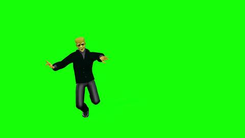 446 3d animated halloween frankenstein and skeleton Animation