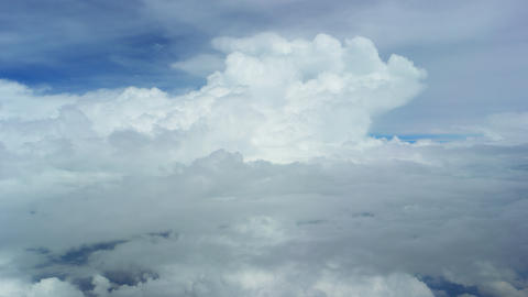 Beautiful clouds. The view from a flying plane Footage