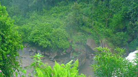 White Water Roars over Phnom Kulen National Park. with sound. Video 3840x2160 Footage